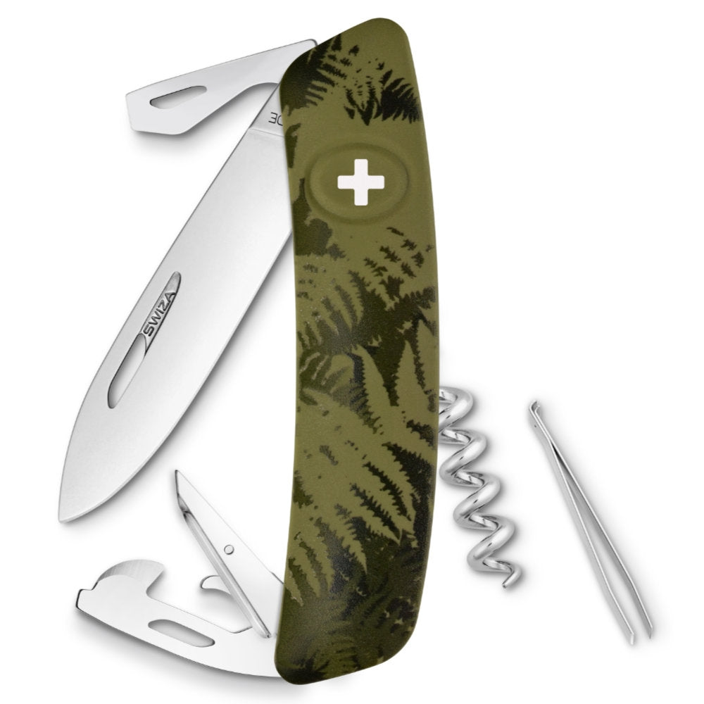 Swiza C03 Swiss Pocket Knife, Camouflage