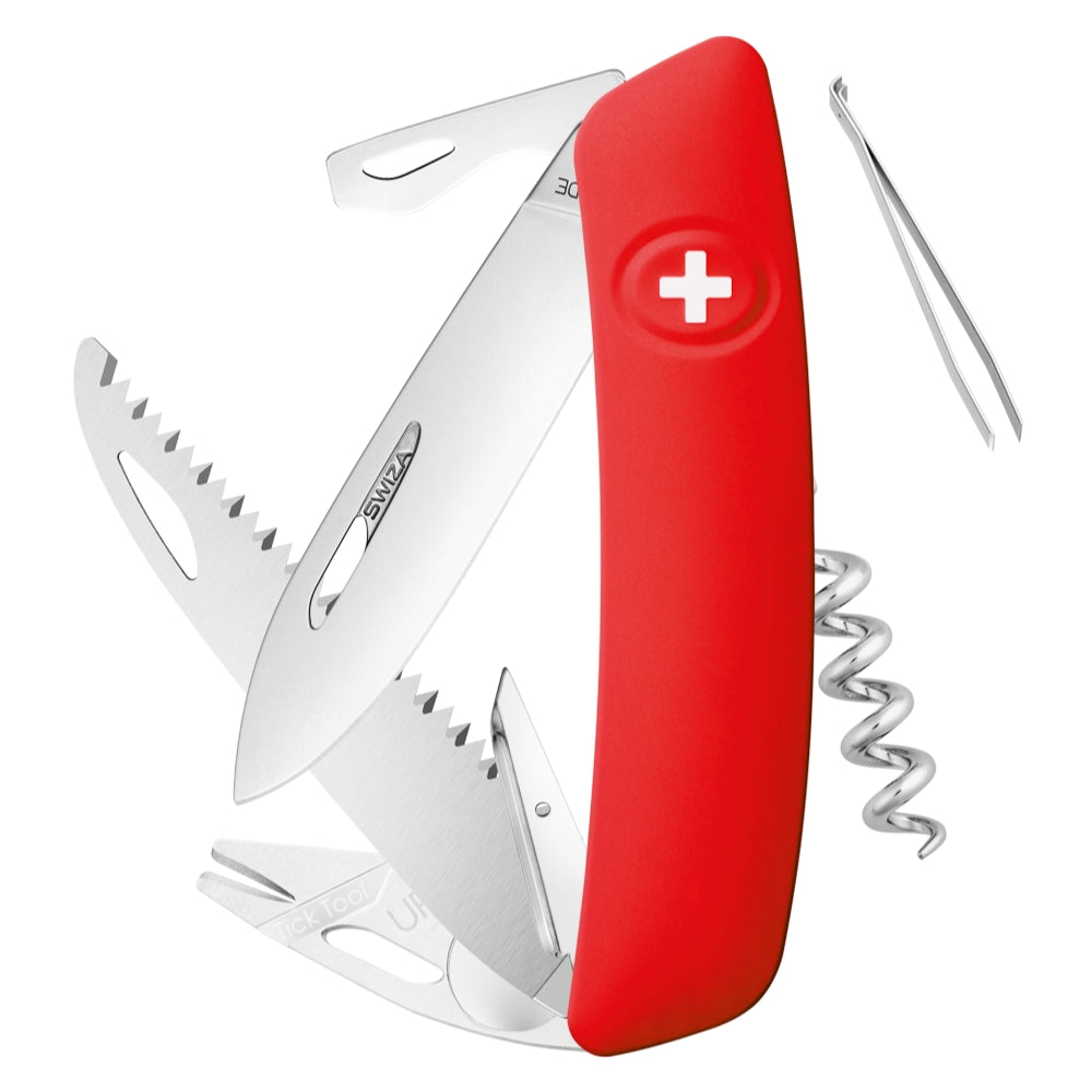 Swiza TT05 Swiss Tick Tool Pocket Knife, Red