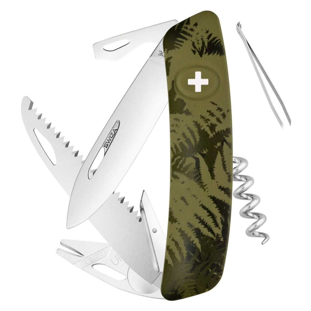 Swiza TT05 Swiss Tick Tool Pocket Knife, Olive Fern Camouflage