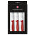 Victorinox Classic 4-Piece Utility Paring Knife Set with Red Handles