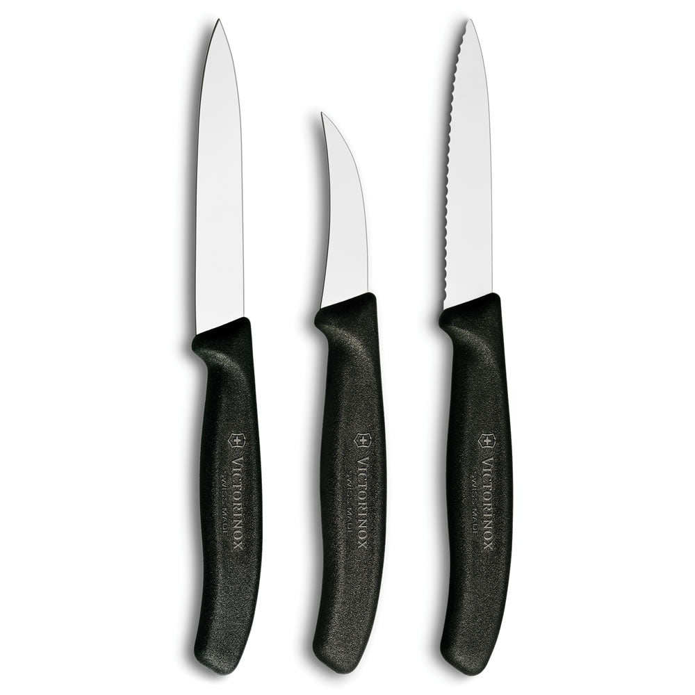 Swiss Classic 3-Piece Chef's Paring Knife Set by Victorinox