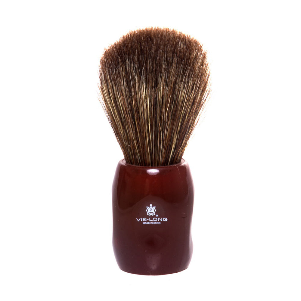 Vie-Long Peleon Horse Hair Shaving Brush - Red Handle