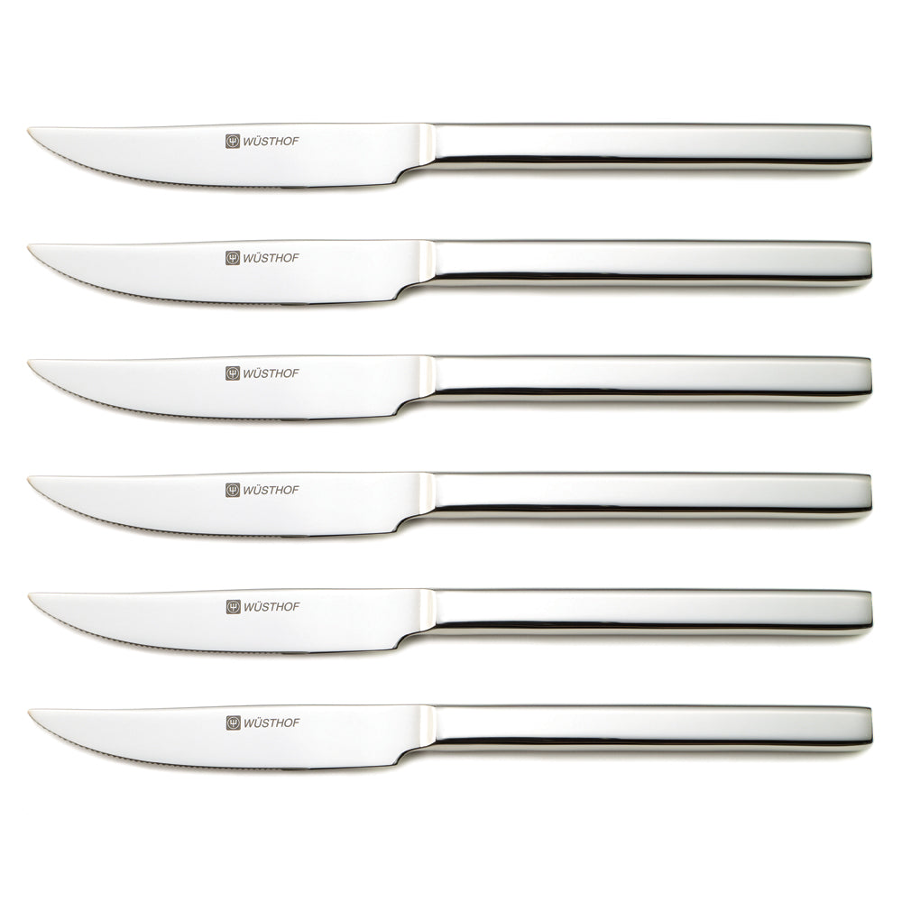 Wusthof Six-Piece Stainless Steel Steak Knife Set