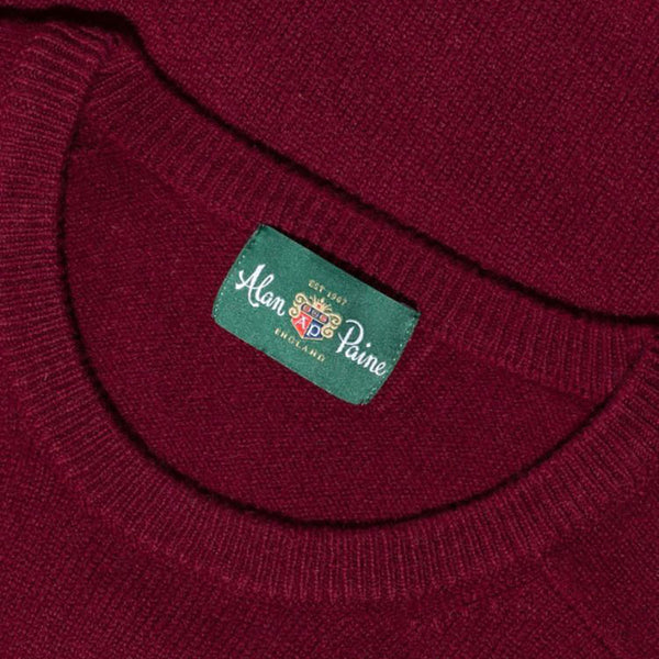 Lenzie Lambswool Crew Neck Jumper - Bordeaux