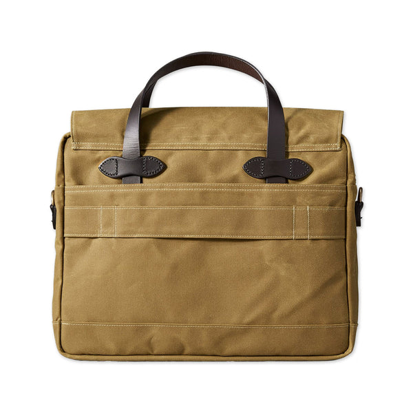 24-Hour Tin Cloth Briefcase - Dark Tan