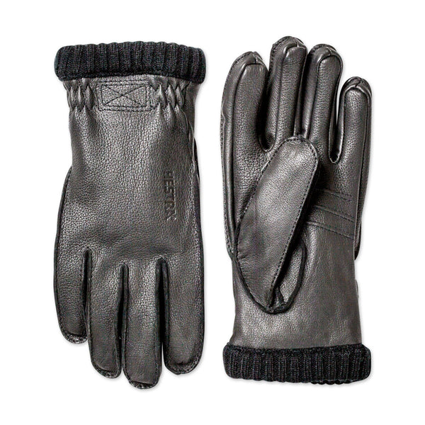 Deerskin Primaloft Rib Gloves - Black