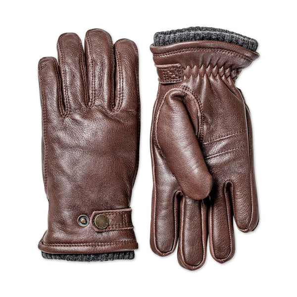 Utsjö Leather Gloves - Espresso