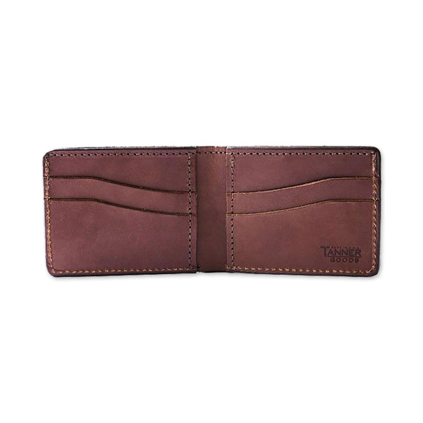Utility Bifold Leather Wallet - Cognac