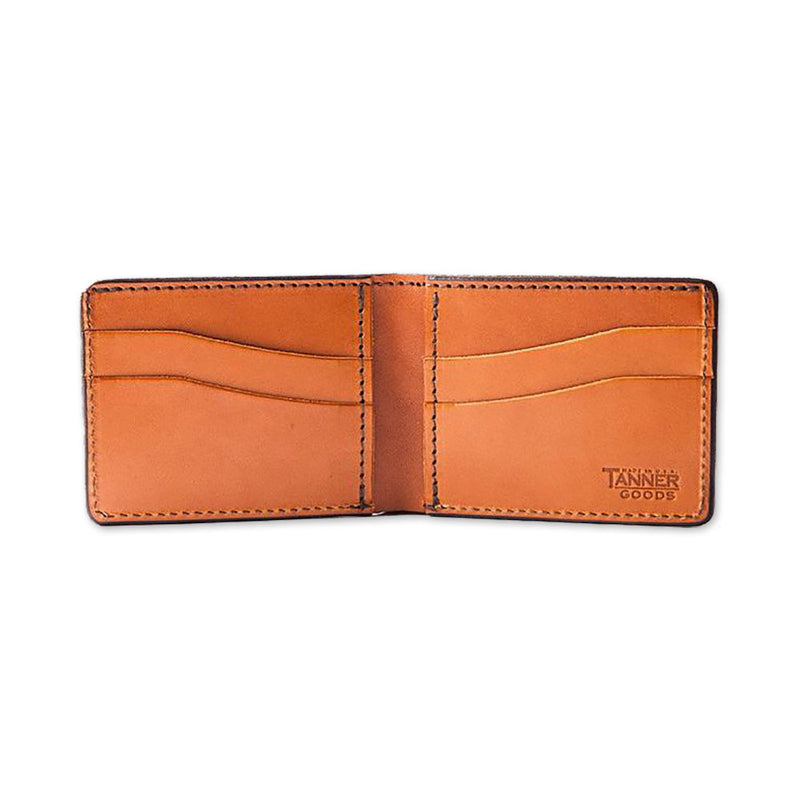 Utility Bifold Leather Wallet - Saddle Tan