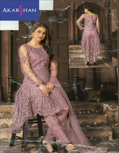 Designer High Low Kameez with Straight Pant