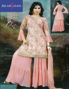 Georgette Embroidered Sharara