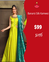 Load image into Gallery viewer, Flair Kameez with Banarasi Silk Dupatta