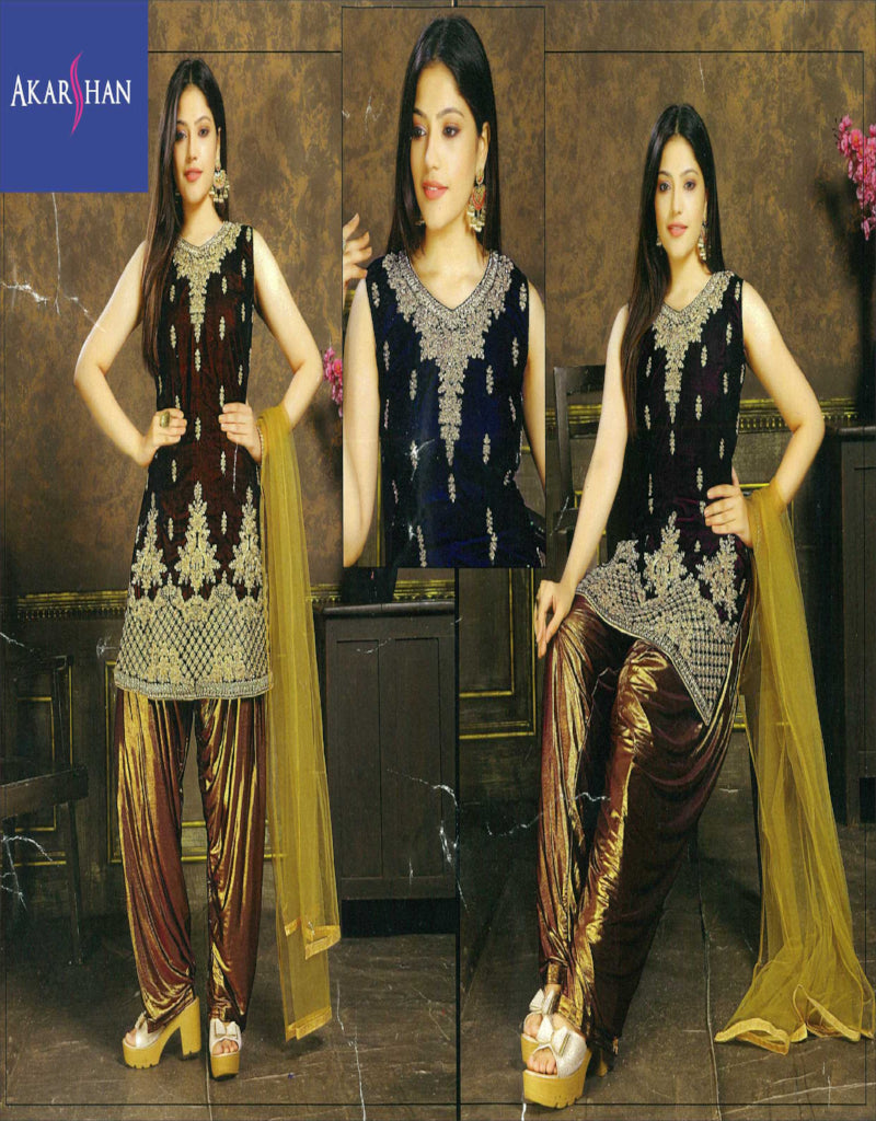 Embroidery Velvet Patiala