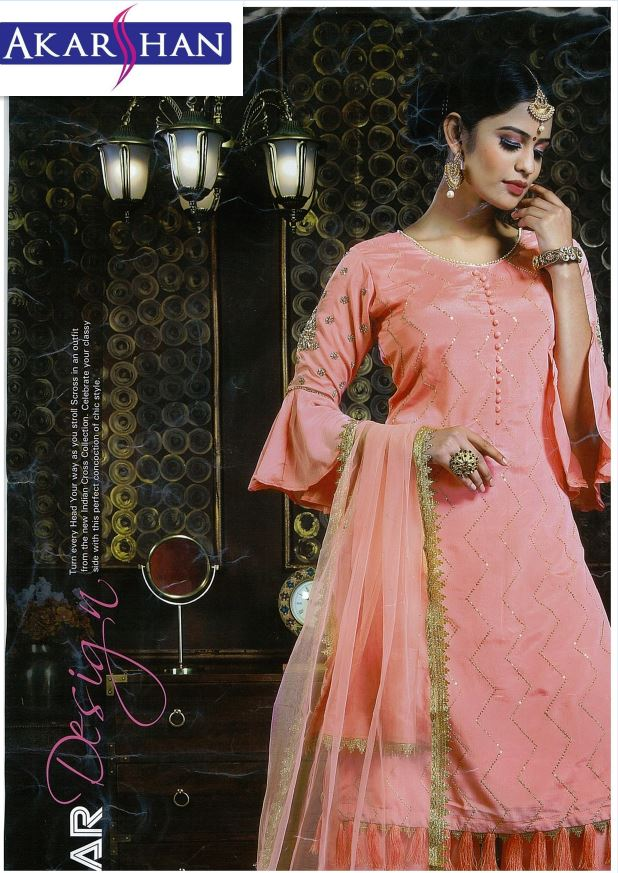 Georgette Straight Kameez with Plazo pants