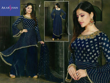 Load image into Gallery viewer, Georgette High Low Kameez in handwork with Plazo