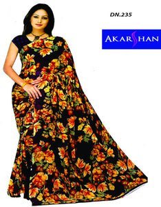 Georgette Printed Floral Saree