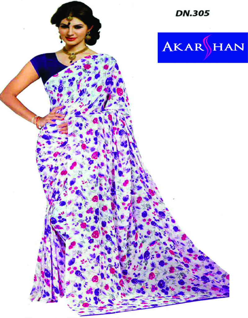 Georgette Floral Printed Saree
