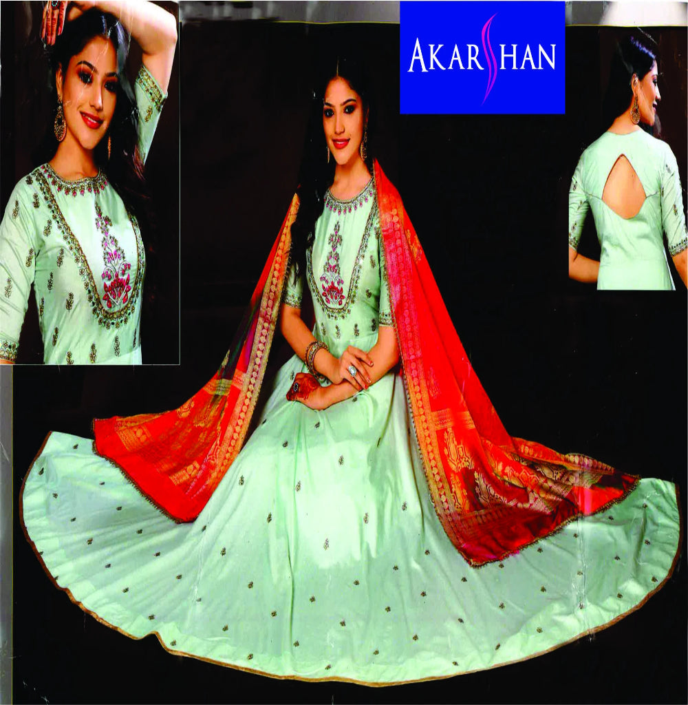 Silk Flair Kameez wth silk Dupatta