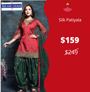 Silk Patiala with Bell Sleeves