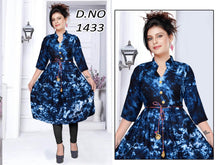 Load image into Gallery viewer, Rayon Cotton Flair Kurti