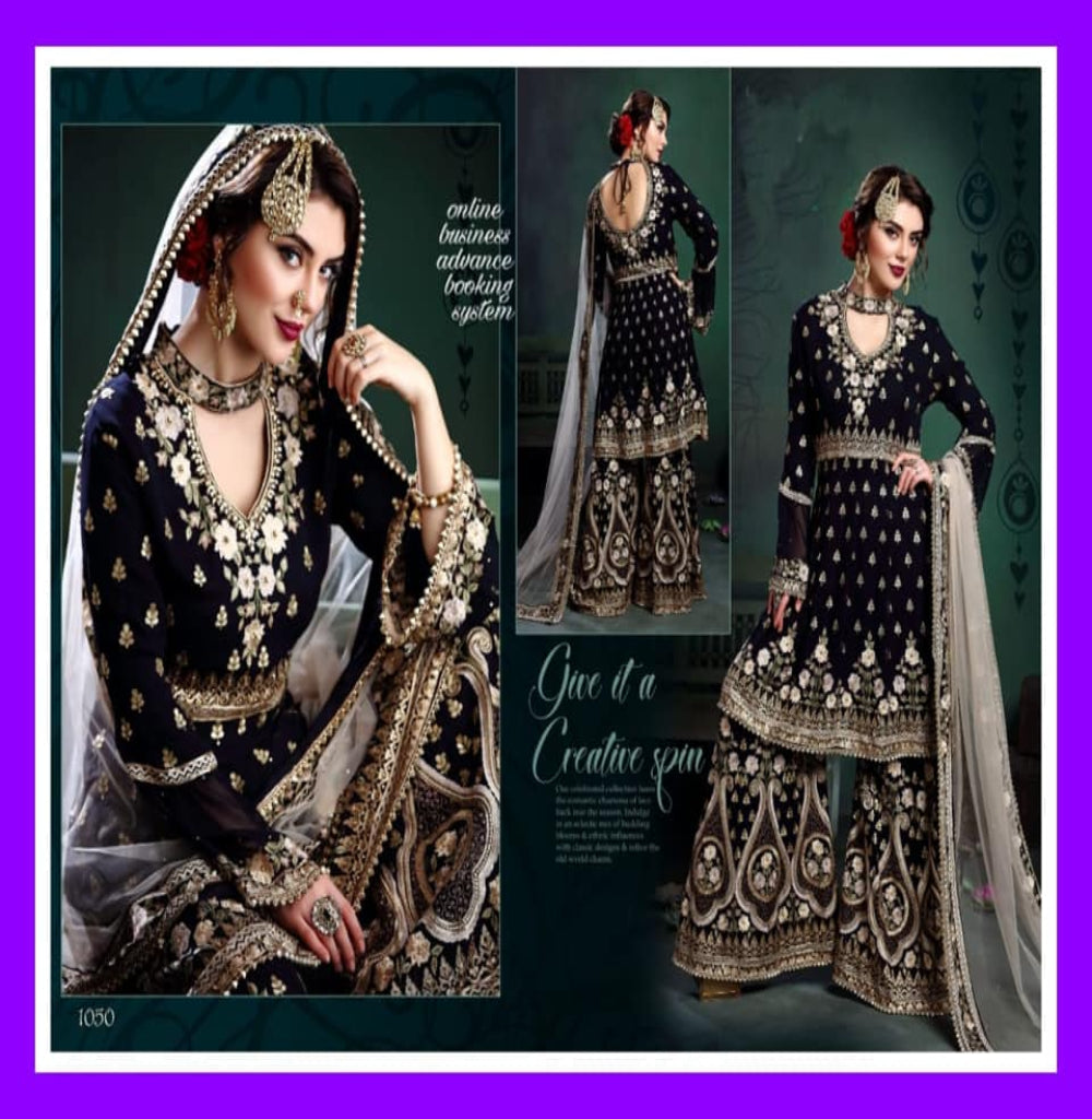 Georgette Embroidery Sharara