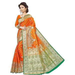 Silk saree in Cutwork