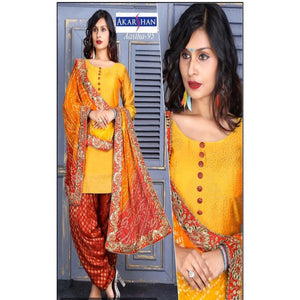 Silk Patiyala with Bandhni Dupatta