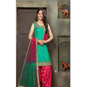 Hand Work Patiala with Heavy Dupatta