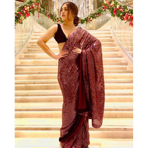 Bollywood Georgette Sequence Saree