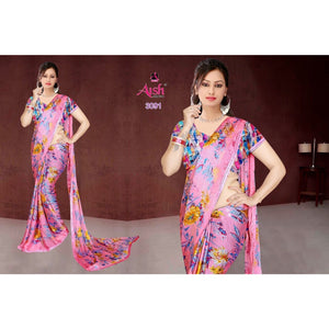 Flowery Printed Saree
