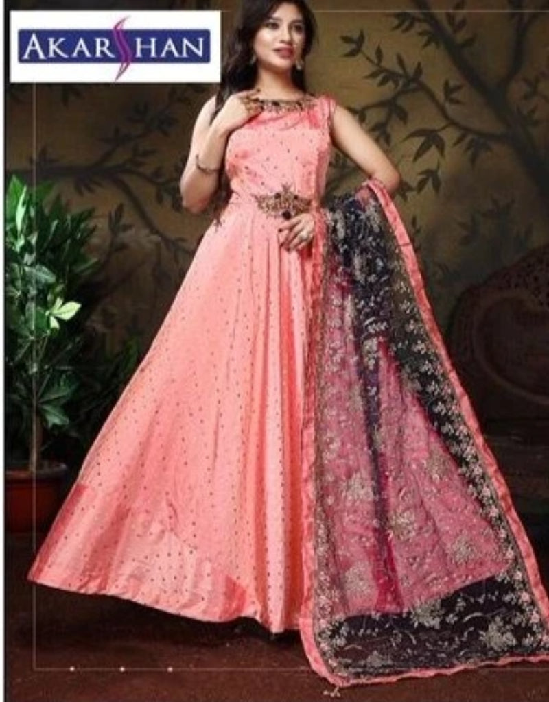 Silk Flair Kameez with Heavy Embroidery Dupatta