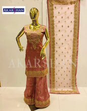 Load image into Gallery viewer, Straight Silk Plazo Kameez in Embroidery