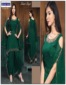 Designer Dhoti Suit in Georgette with Bell Sleeves