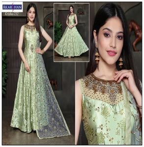Silk flair Kameez with Embroidery Dupatta