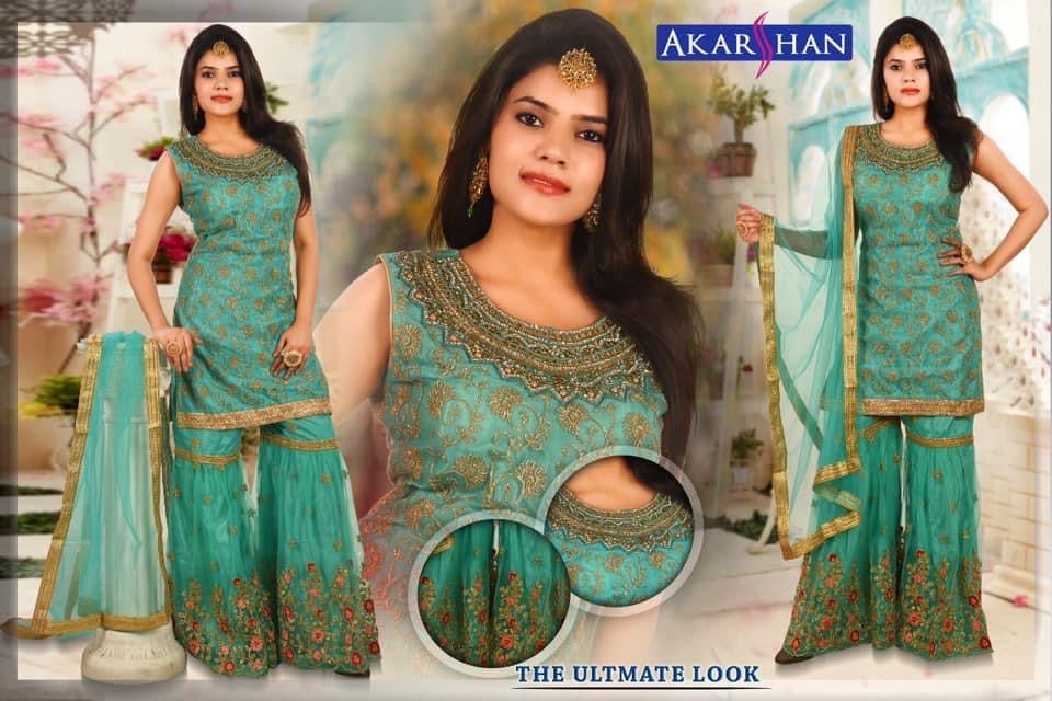Embroidery Sharara