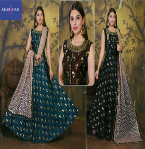 Silk Flair Kameez with Heavy Embroidery Pearl beaded Dupatta