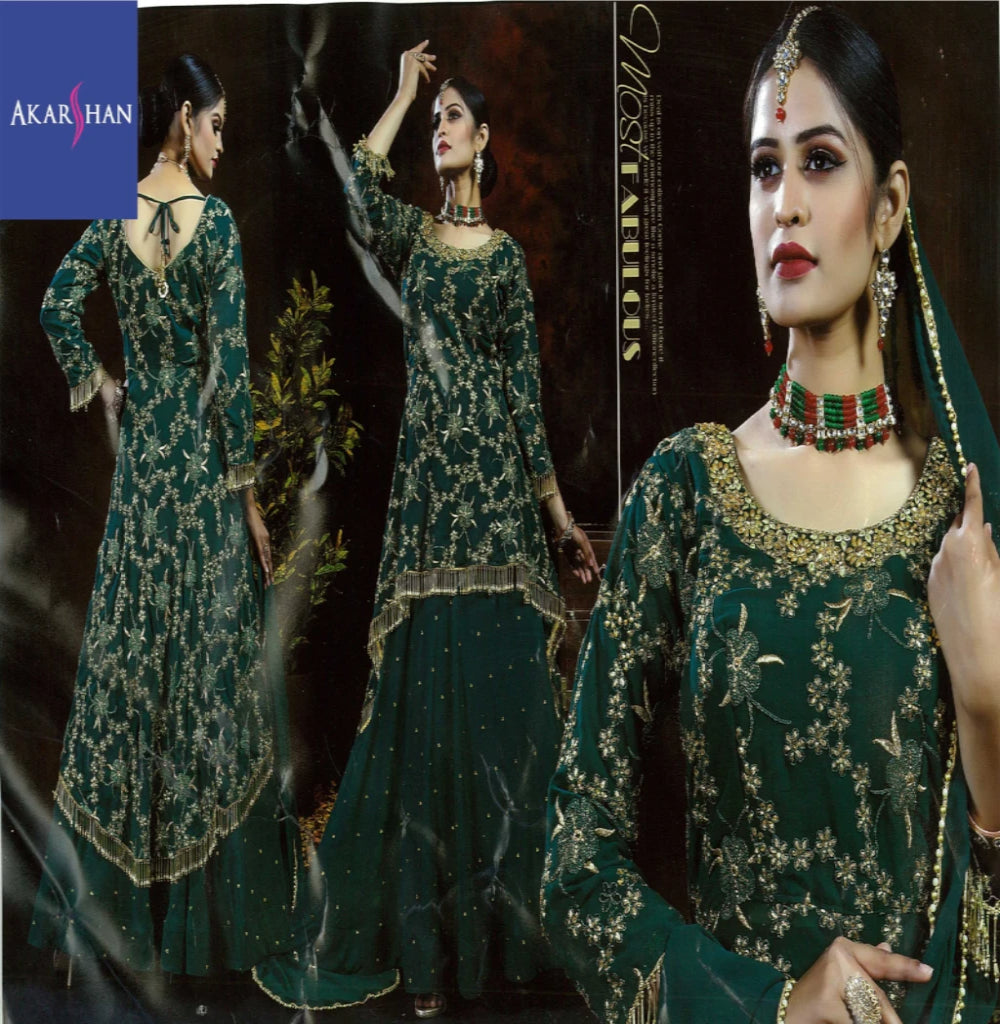 High and Low Designer Lehenga kameez