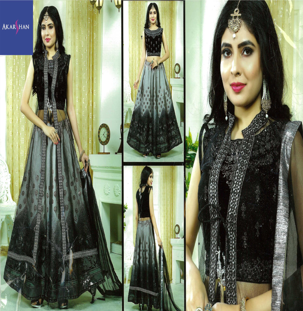 Readymade front and back Embroidery Lehenga With Jacket