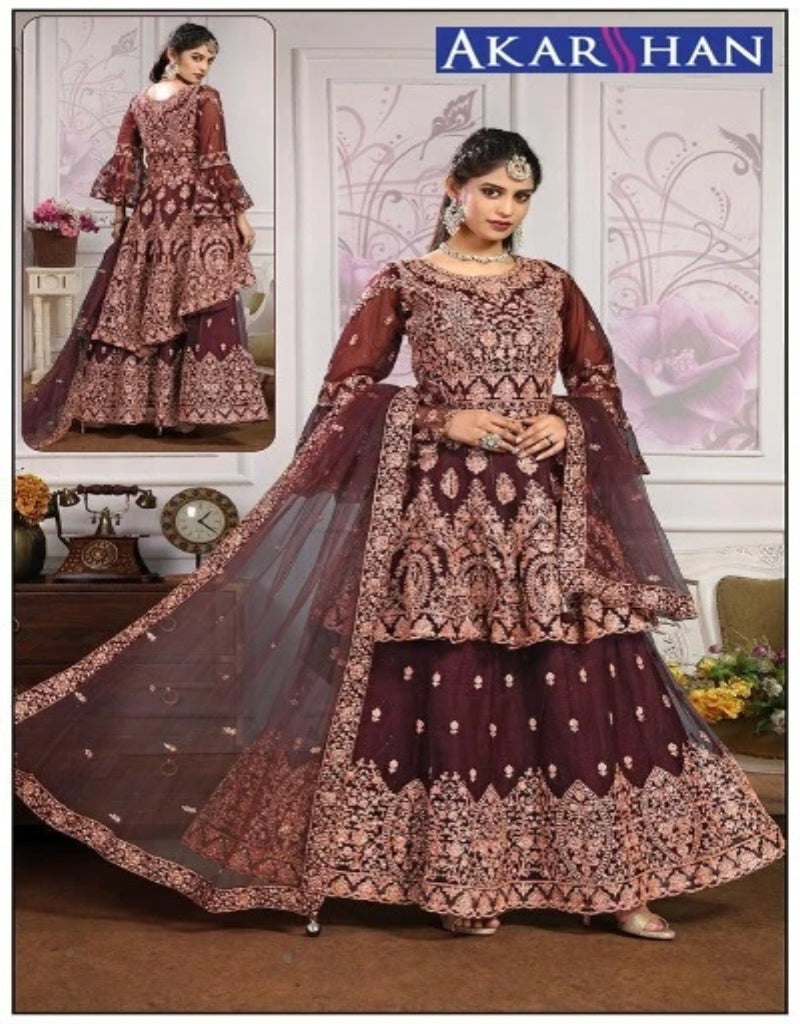Long Top and Lehenga Kameez