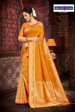 Load image into Gallery viewer, Pure Silk Saree in Mustard