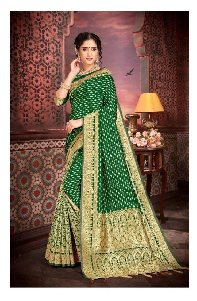 Pure Silk Saree in Green