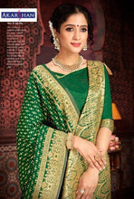 Load image into Gallery viewer, Pure Silk Saree in Green