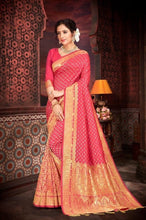 Load image into Gallery viewer, Pure Silk Saree in Peach