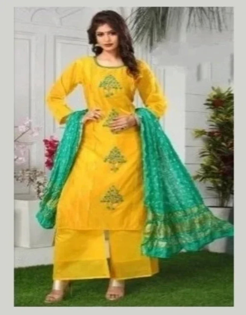 Pakistani Suit with Silk Duppatta