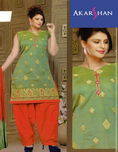Cotton Silk Patiala In Embroidery