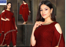 Load image into Gallery viewer, Designer Dhoti Suit in Georgette with Bell Sleeves