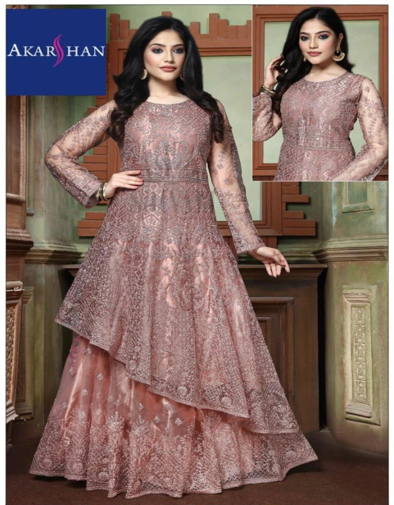 Designer Flair Kameez with Skirt in Zardozi work