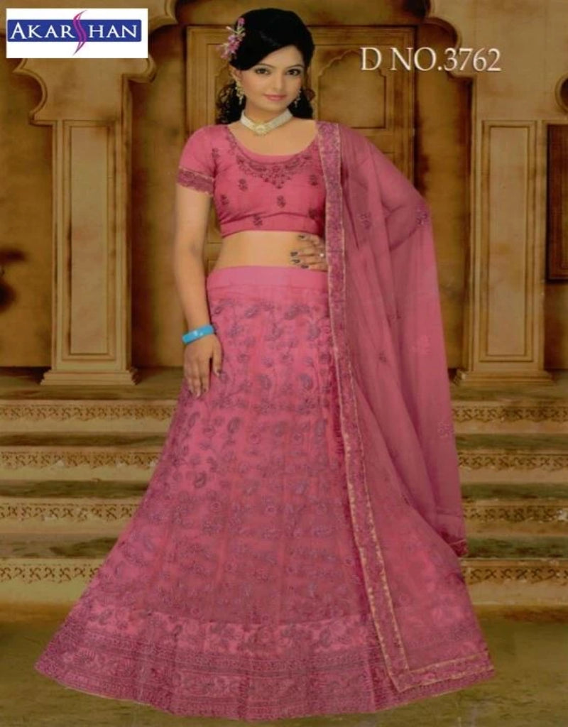 Front and back Embroidery monotone Lehenga