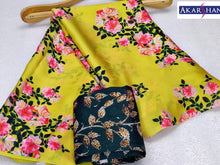 Load image into Gallery viewer, Floral printed Saree