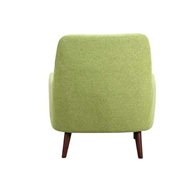 "HomeRoots 33"" X 31"" X 35"" Green Polyester Chair"